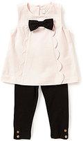 Kate Spade Baby Girls 12-24 Months Scalloped-Trim Bow Top & Leggings Set