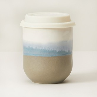 Indigo Sunset Series Ceramic On-The-Go Cup Forest Blue