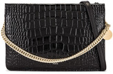 Givenchy Cross 3 Embossed Croc Crossbody Bag in Black | FWRD