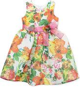 Jayne Copeland Little Girls' Floral-Print Organza Dress