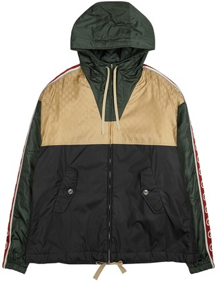 Gucci Panelled logo shell jacket