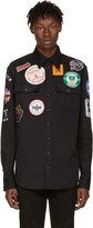 DSQUARED2 Black Military Patches Shirt