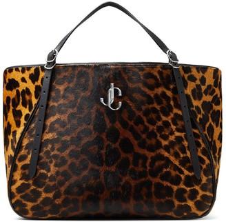 Jimmy Choo Varenne leopard-print tote bag