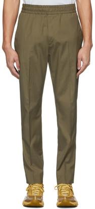 Acne Studios Khaki Cotton Ryder Trousers