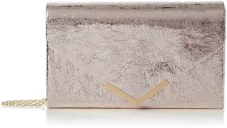 Swankyswans Swanky Swans Womens Anastasia Envelope Metallic Clutch Bag Clutch Silver (Silver)