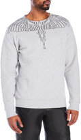 Marcelo Burlon County of Milan Graphic Crew Sweatshirt