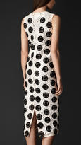 Burberry Dotted Macramé Lace Shell Dress