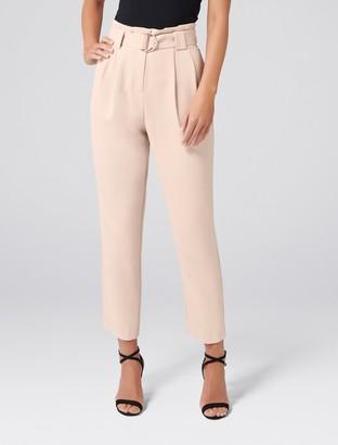 Forever New Jessabelle Petite Tie Waist Pants - Neutral - 8