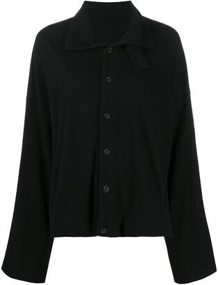 Yohji Yamamoto Loose-Fit Button-Up Cardigan