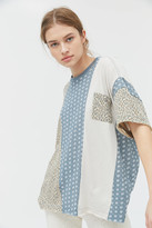 Urban Outfitters Vagabond Spliced Oversized Pocket Tee