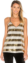 Blaque Label Striped Sequin Cami in Metallic Gold. - size XS (also in )