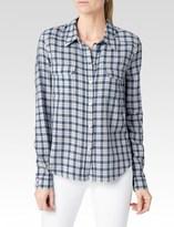 Paige Trudy Shirt - White/Harbor Blue Lancaster Plaid