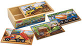 Melissa & Doug Kids Puzzle, Construction Vehicles Jigsaw Puzzles in a Box
