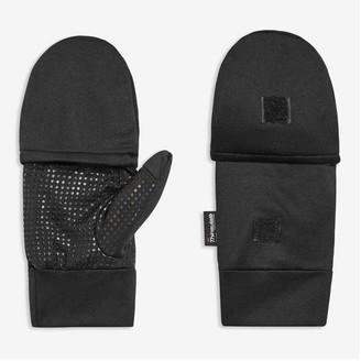 Joe Fresh Men's Convertible Gloves, Black (Size L/XL)