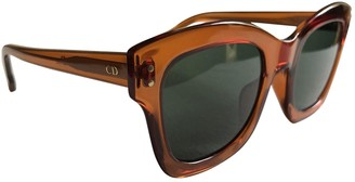 Christian Dior Orange Plastic Sunglasses