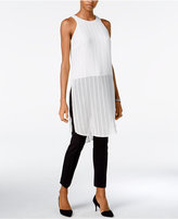 Bar III Sheer Textured Tunic, Only at Macy's