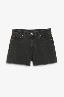 Monki High waist denim shorts