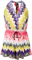 Missoni zig-zag print drawstring playsuit - women - Viscose - 40