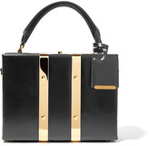 Sophie Hulme Albany Mini Glossed-leather Tote - Black