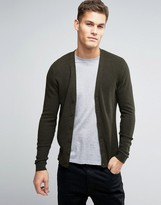 Asos Cotton Cardigan with Waffle Texture