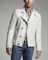 Dolce & Gabbana Short Cotton-Linen Pea Coat