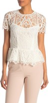 Reiss Fiona Lace Peplum Top