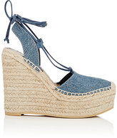 "Saint Laurent WOMEN'S ""ESPADRILLE"" PLATFORM WEDGE SANDALS"