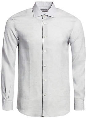 5b663f70f8 Linen Long Sleeve Shirt - ShopStyle