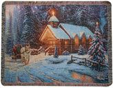 "Bed Bath & Beyond ""Christmas Chapel"" Decorative Tapestry Throw"