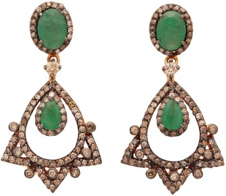 Carousel Jewels Emerald & Diamond Statement Earrings