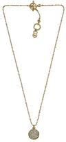 Michael Kors Pave Disc Necklace, Golden