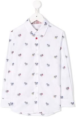 Paul Smith Zebra long-sleeved shirt
