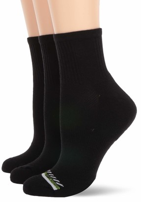Hue Women's Mini Crew Sport Socks with Cushion 3 Pair Pack
