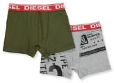 Diesel Big Boys' 2-Pack Boxer Briefs (Sizes 8 - 20) - charcoal/black, xl