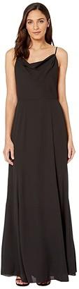 WAYF The Melanie Cowl Neck Gown (Black) Women's Dress