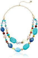 The Sak Double Row Beaded Necklace, 18""
