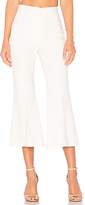 Tibi Jane Cropped Bootcut Pant in White