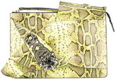 No.21 leopard print clutch bag
