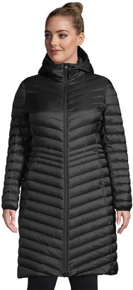 Lands' End Petite Plus Size Hooded Ultralight Packable Down Coat