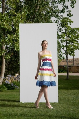Gemy Maalouf Multicolored Strapless Dress