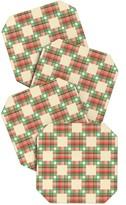 DENY Designs Holli Zollinger Cross Hatch Color Coaster - Set of 4