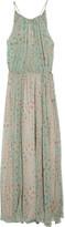 Abondance printed silk-chiffon maxi dress