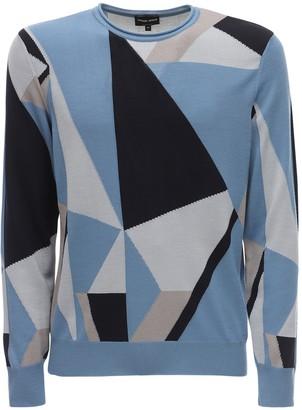 Giorgio Armani Geometric Virgin Wool Jacquard Sweater