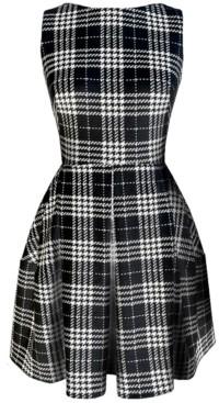 Taylor Plaid Fit & Flare Dress