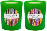 Qualitas Candles Fir Needle Beeswax Candles (Set of 2) (6.5 OZ)