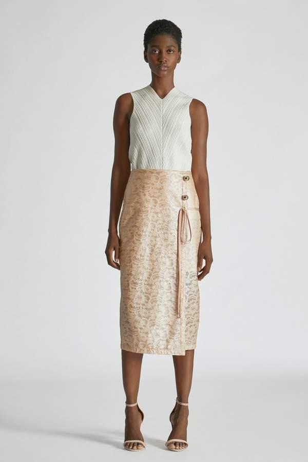 Laminated Lace Skirt