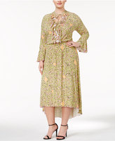 Melissa McCarthy Trendy Plus Size Ruffled High-Low Dress