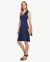 Ann Taylor V-Neck Flare Dress