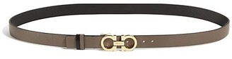 Salvatore Ferragamo Gancini Buckle Reversible Two-Tone Snake-Embossed Leather Belt