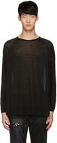 Diet Butcher Slim Skin Black Oversized Pullover